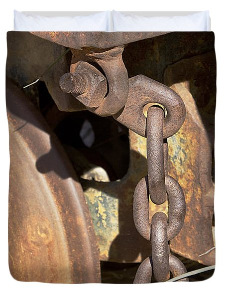 Ore Car Chain Duvet Cover