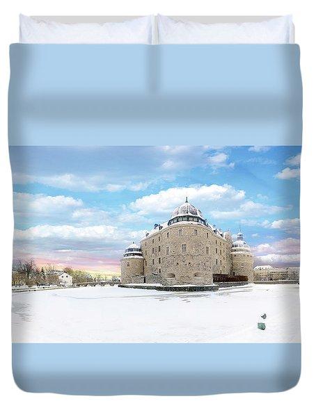 Orebro Castle Duvet Cover by Marius Sipa