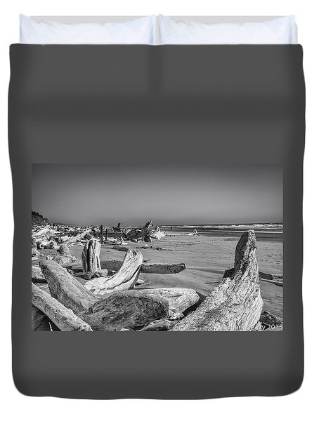 Oregon Beach Driftwood Duvet Cover