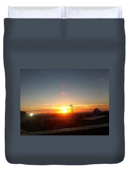 Oregon Blazing Sunset Duvet Cover