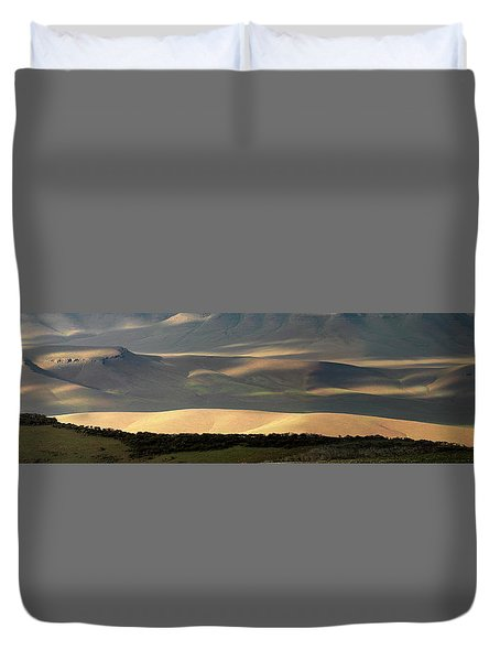 Duvet Cover featuring the photograph Oregon Canyon Mountain Layers And Textures by Leland D Howard