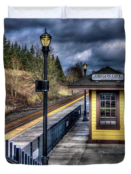 Duvet Cover featuring the photograph All Aboard  by Thom Zehrfeld