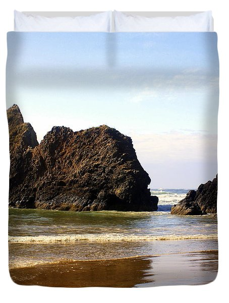 Oregon Coast 10 Duvet Cover by Marty Koch