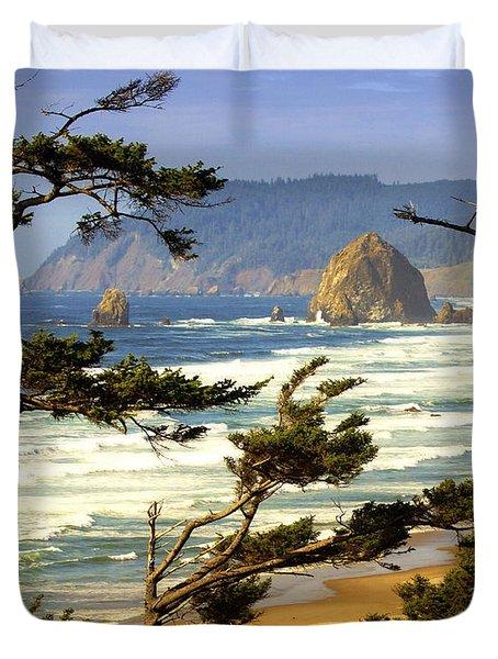 Oregon Coast 15 Duvet Cover by Marty Koch