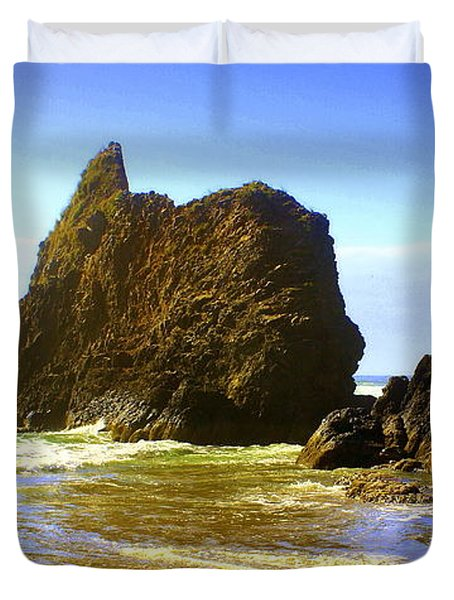 Oregon Coast 16 Duvet Cover by Marty Koch