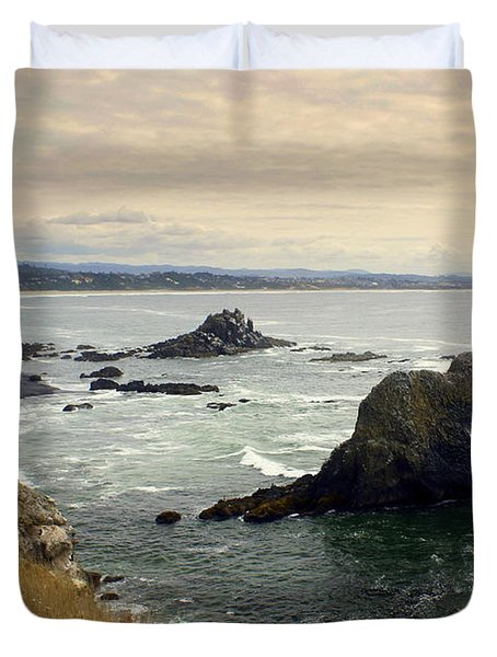Oregon Coast 17 Duvet Cover by Marty Koch