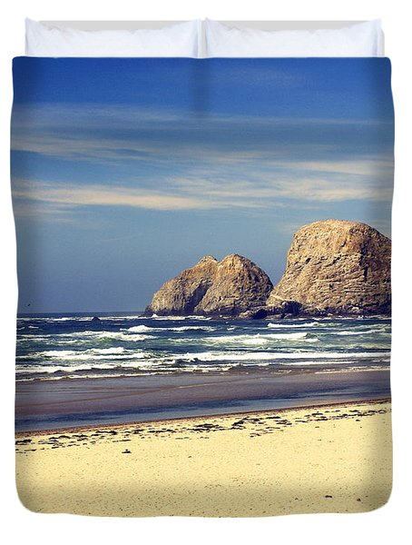 Oregon Coast 7 Duvet Cover by Marty Koch