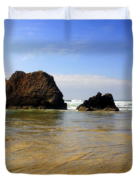 Oregon Coast 9 Duvet Cover by Marty Koch