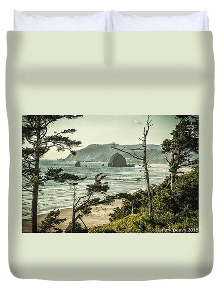 Oregon Coast At Sunset Duvet Cover