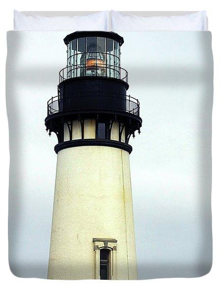Oregon Coast Lighthouses - Yaquina Head Lighthouse Duvet Cover by Christine Till