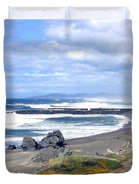Oregon Coast Duvet Cover by Will Borden