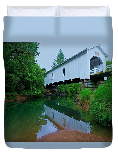 Oregon Covered Bridge Duvet Cover
