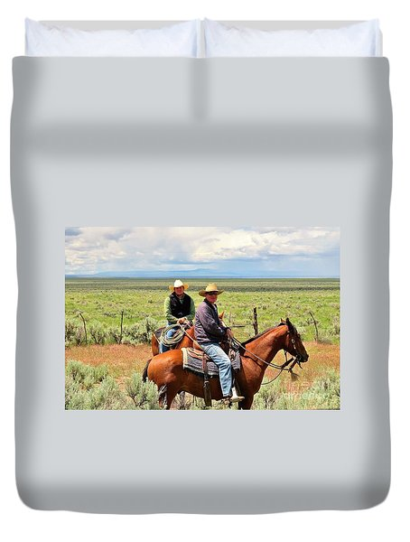 Oregon Cowboys Duvet Cover by Michele Penner