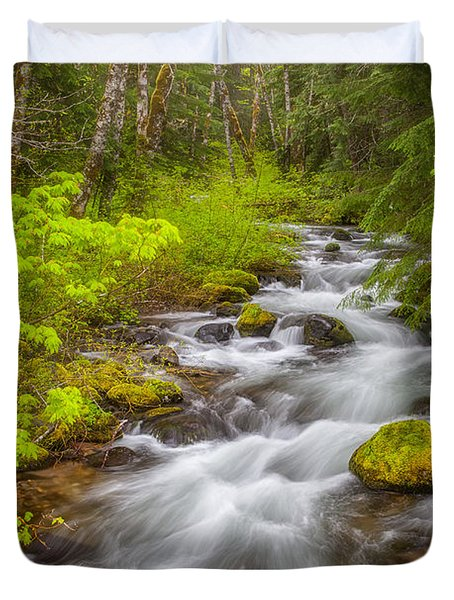 Oregon Creek Duvet Cover