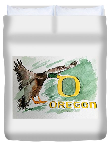 Oregon Ducks Duvet Cover