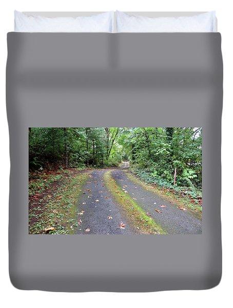 Oregon Fall Day Duvet Cover