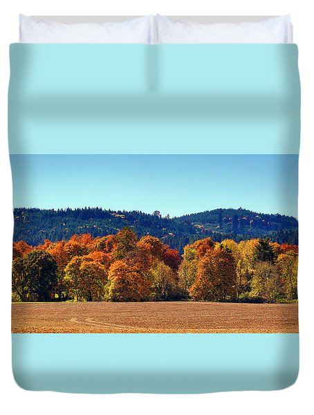 Oregon Fall Duvet Cover
