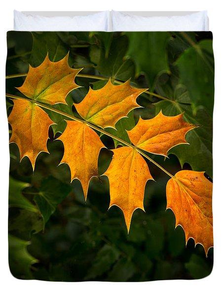 Oregon Grape Autumn Duvet Cover