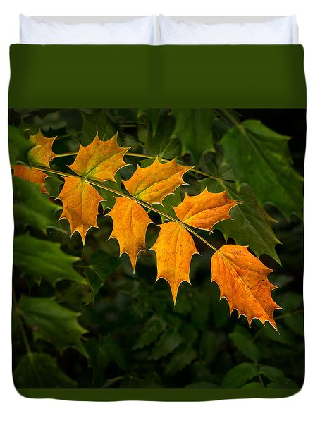 Oregon Grape Autumn Duvet Cover