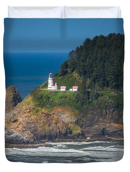 Oregon Heceta Head Lighthouse  Duvet Cover