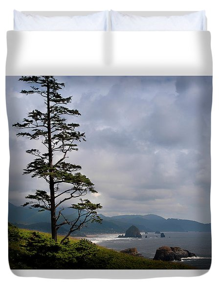 Oregon Ocean Vista Duvet Cover