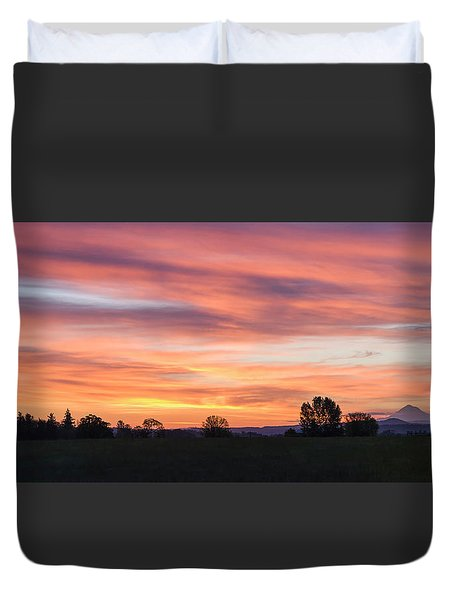 Oregon Sunrise Duvet Cover