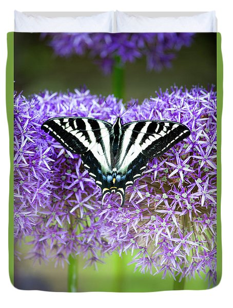 Duvet Cover featuring the photograph Oregon Swallowtail by Bonnie Bruno