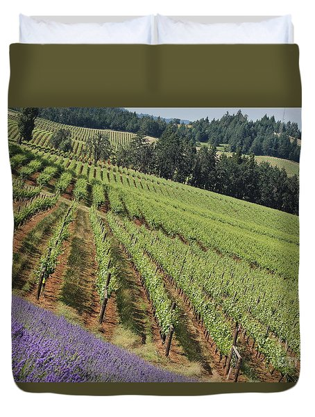 Oregon Vineyard Duvet Cover