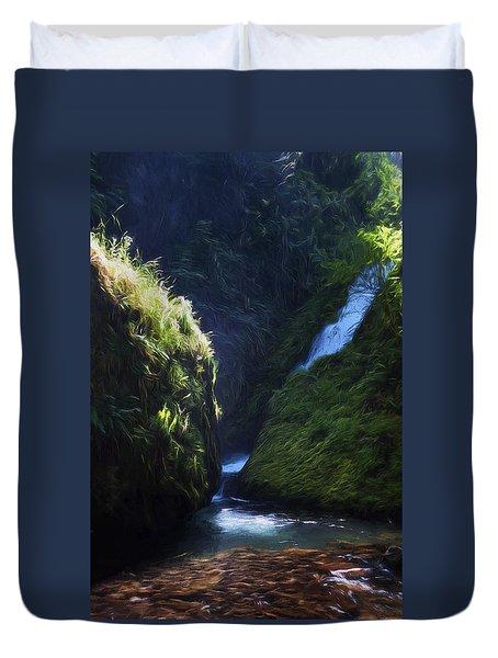 Oregon Waterfall Duvet Cover