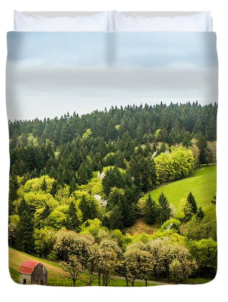 Oregon Wine Country Duvet Cover