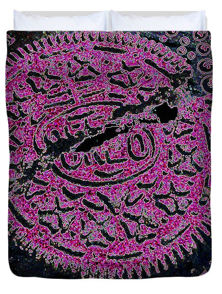 Oreo In Pink Duvet Cover by Nancy Mueller