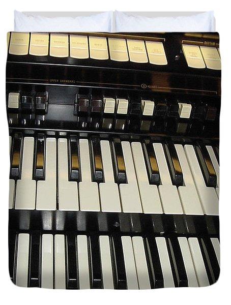 Hammond Organ Keys Duvet Cover