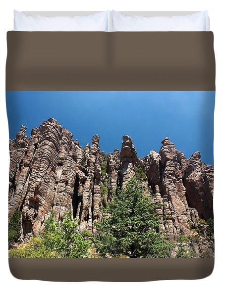 Duvet Cover featuring the photograph Organ Pipes by Joe Kozlowski