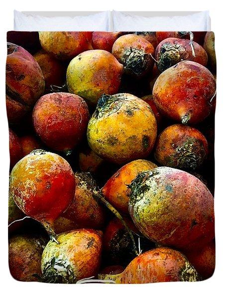 Organic Beets Duvet Cover