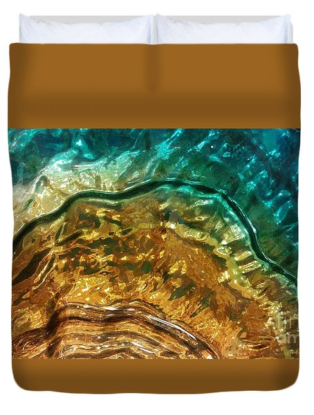 Organic Flow Duvet Cover by Caryl J Bohn