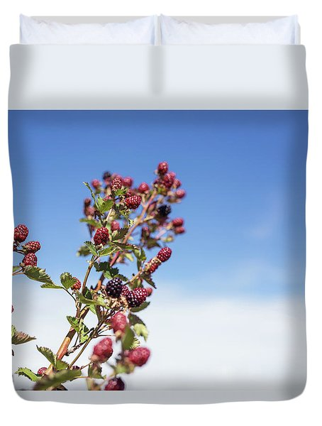 Organic Handpicked Home Orchard Raspberries,blackberries From Bu Duvet Cover