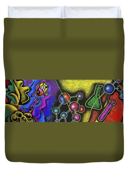 Organic Health Food And Biotechnology  Duvet Cover