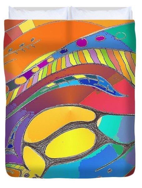 Organic Life Scan Or Cellular Light - Original, Square Duvet Cover