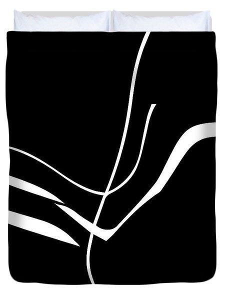 Organic No. 8 White On Black Minimalism Duvet Cover