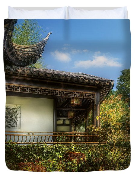 Orient - A Place To Pray  Duvet Cover by Mike Savad