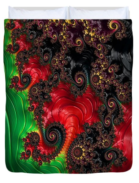 Oriental Abstract Duvet Cover