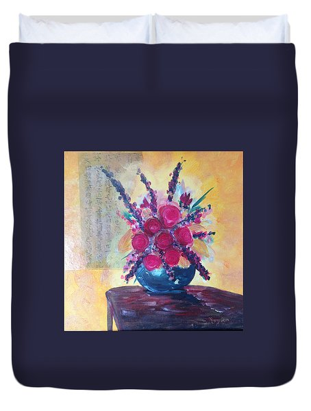 Oriental Arrangement Duvet Cover by Roxy Rich