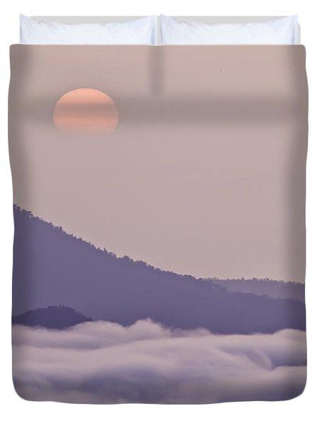 Oriental Blue Ridge Sunrise Duvet Cover by Rob Travis