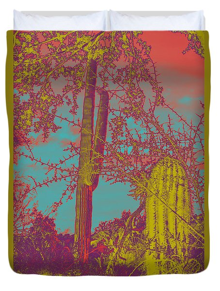 Oriental Colors Of Arizona Duvet Cover by Carolina Liechtenstein