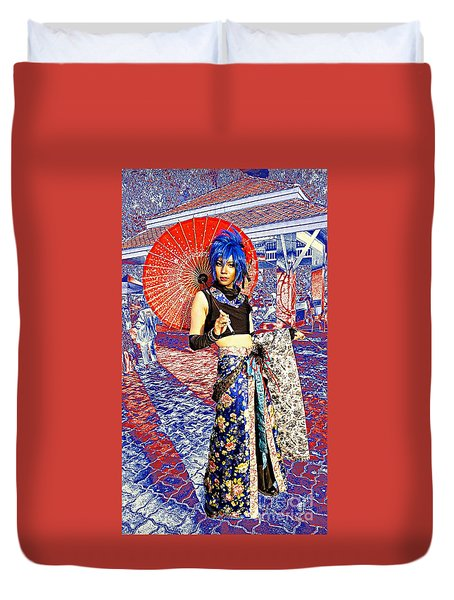 Oriental Cosplayer Duvet Cover