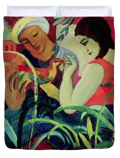 Oriental Women Duvet Cover