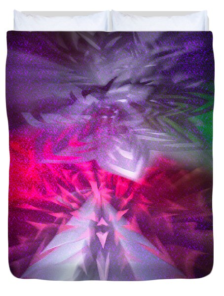 Origami Outburst Duvet Cover by Adria Trail