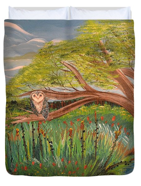 Original Acrylic Artwork By Mimi Stirn - Hoomasters Collection Hoomonet #413 Duvet Cover