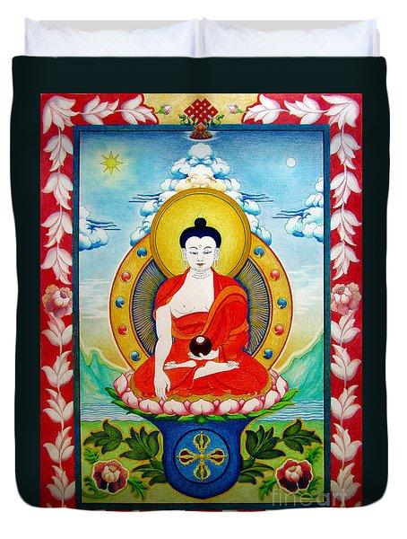 Shakyamuni Buddha Duvet Cover
