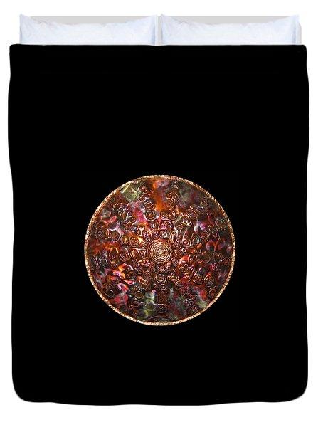 Duvet Cover featuring the digital art Original Copper Lightmandala by Robert Thalmeier